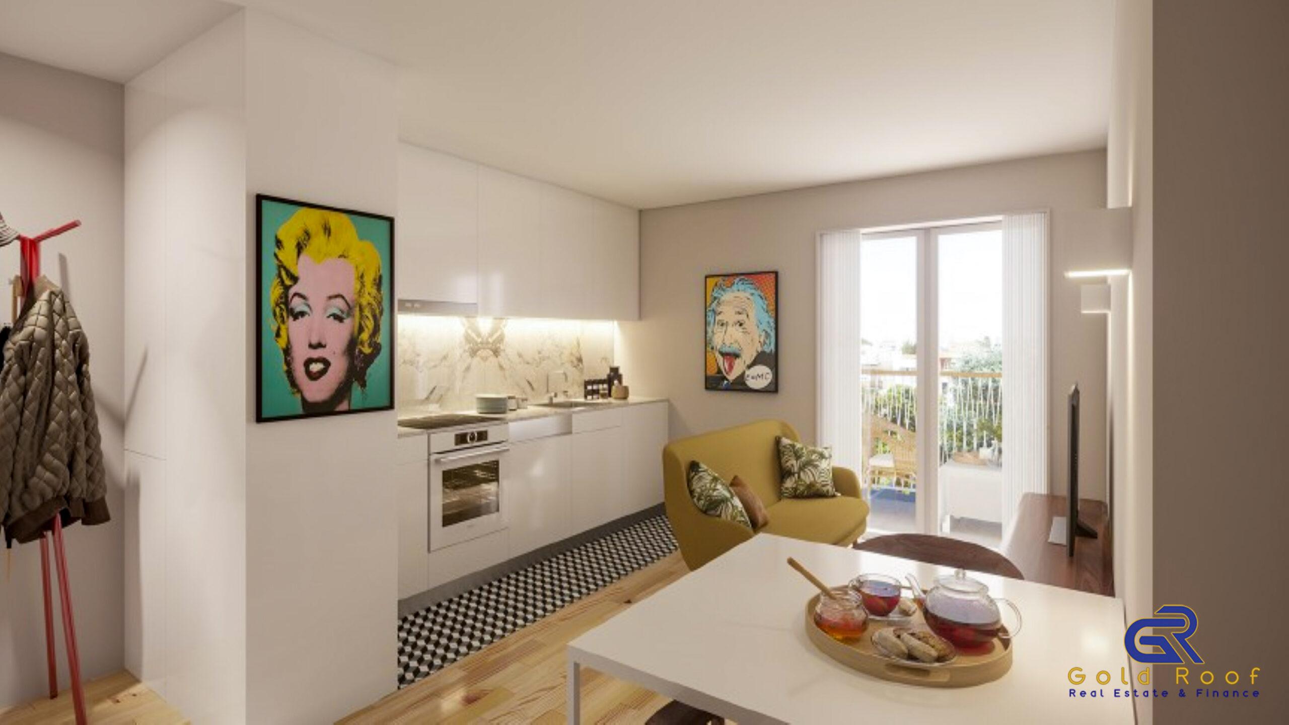Appartement 1 chambre avec balcon, dernier étage, près de la plage, Espinho
